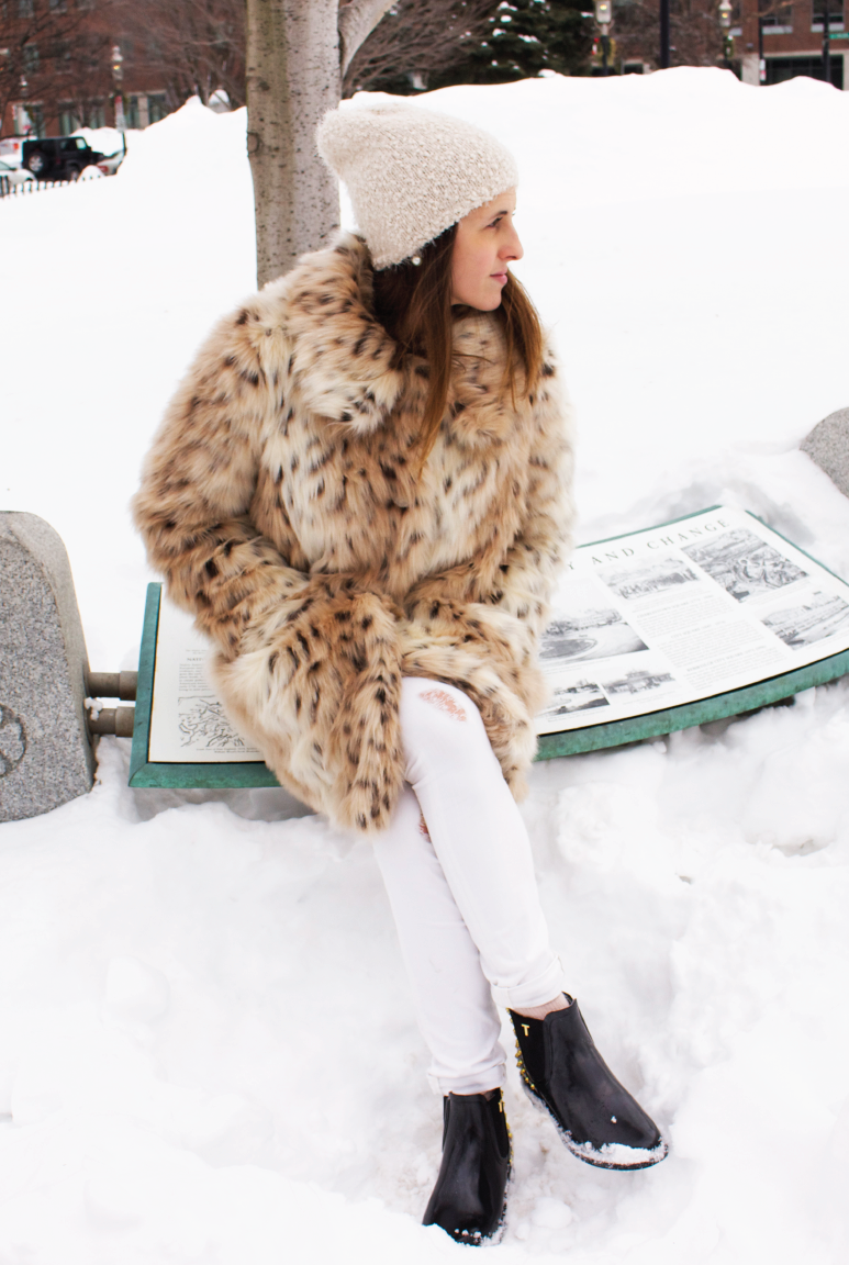 boston-highlights, ootd, asos-leopard-faux-fur-coat