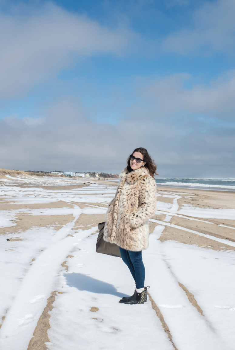 montauk-weekend-getaway, faux-fur-coat-in-montauk
