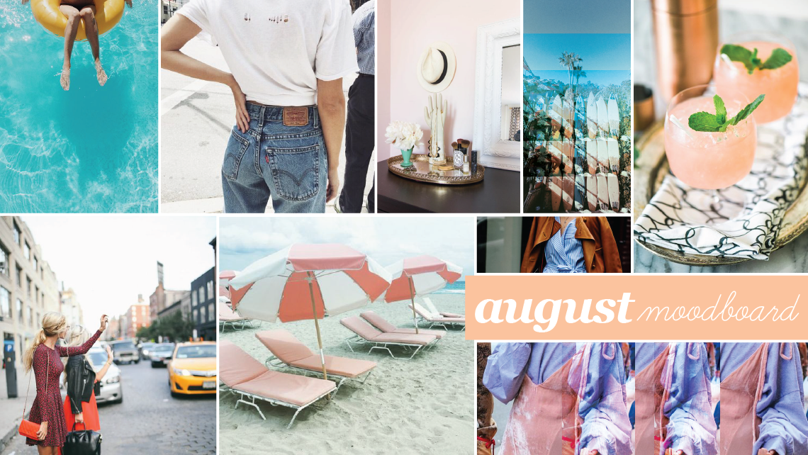 august mood board and to do list
