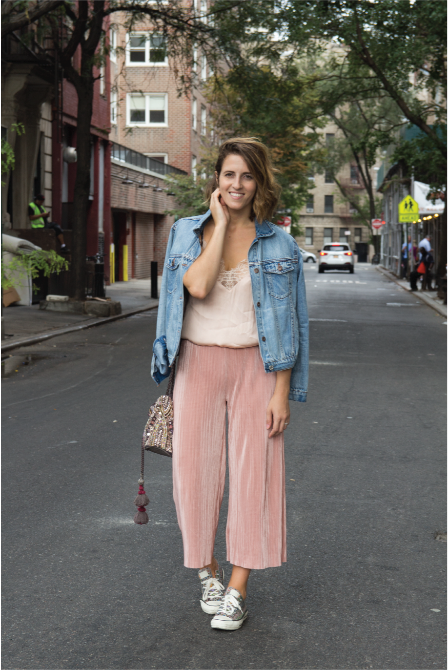 Princess From The Block and Pink Pleated Culottes