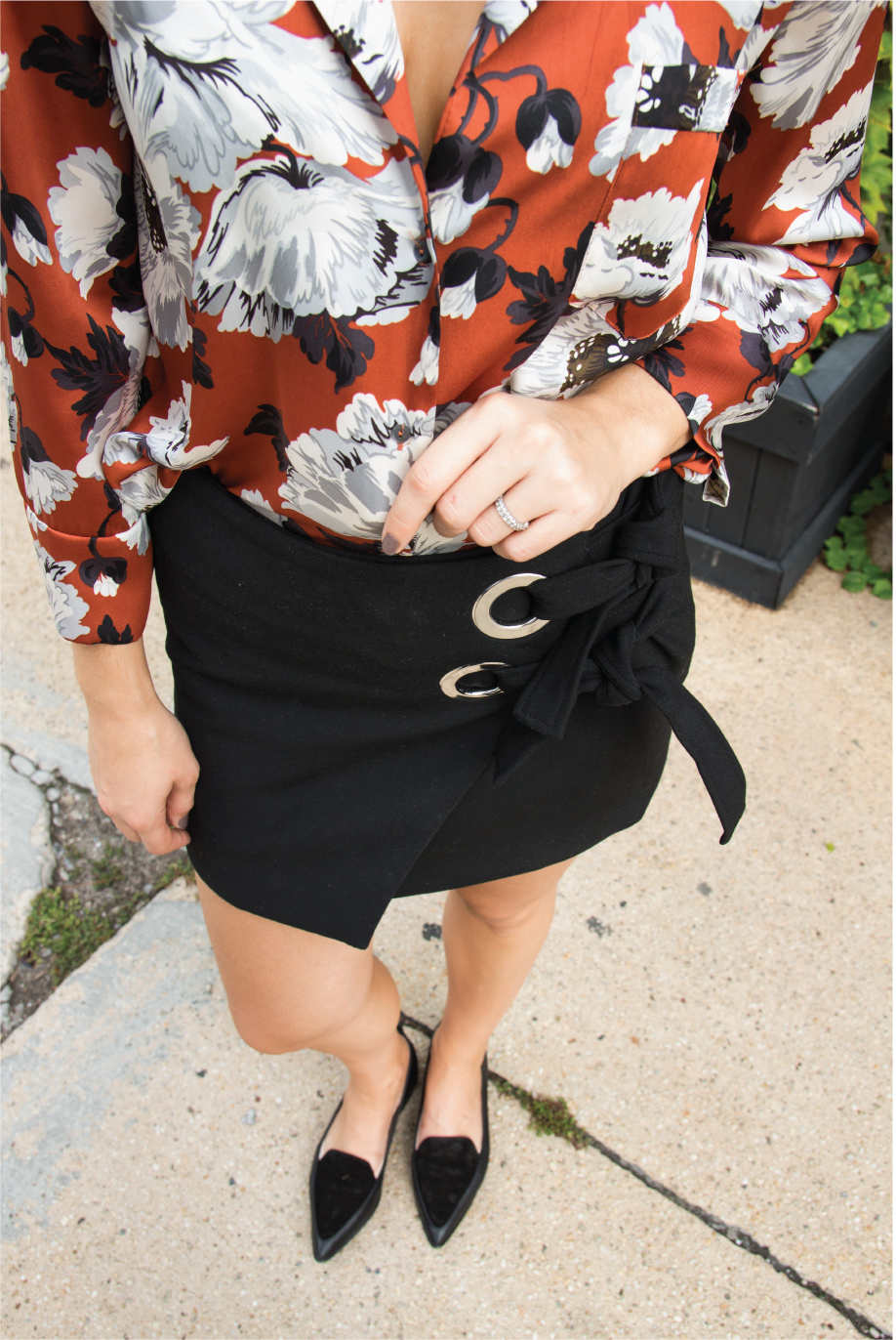 Wrap Skirt, Tiki Shirt and a Fall Trend